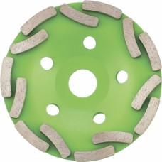 Диамантен диск за шлайфане 125 мм, чашкообразен, двуреден