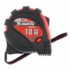 Ролетка Status magnet 3 fixations, 10 m х 32 mm, гумиран корпус, магнитен накрайник
