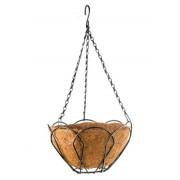 Висяща кашпа / саксия 30 см. с кокосова подложка