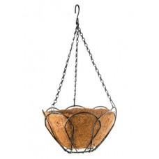 Висяща кашпа / саксия 30 см. с кокосова подложка PALISAD