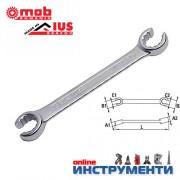 Ключ звезда отворен / прорязан 14х17 мм.
