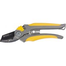 Ножица лозарска, 200 mm, възвратна спирална пружина, с наковалня, гумирани дръжкиE
