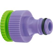Адаптер за кран, вътрешна резба 1/2-3/4, пластмасов