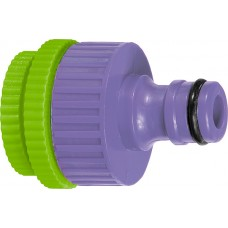 Адаптер за кран, вътрешна резба 1/2-3/4-1, пластмасов