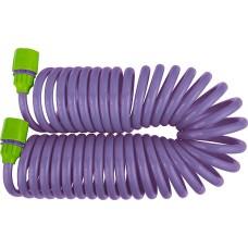 Комплект за поливане: маркуч спирал.7,5mх10mm+съед., адаптер кран 1/2