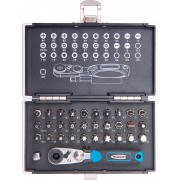 """Комплект битове,1/4"""", магнитен адаптер, 33 части, пластмасова кутия"""