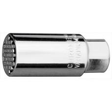 Вложка универсална, многоразмерна, 6-21 mm, 3/8, хромирана
