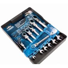 Комплект ключове звездогаечни с тресчотка, 8-19 mm, 7 бр., шарнирни
