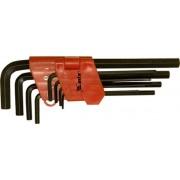 Комплект ключове имбусни (шестостенни), 1,5-10 mm,  9 бр., удължени