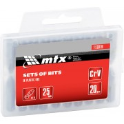 Комплект битове SL5,0 х 25 mm, 20 бр., в пластмасова кутия