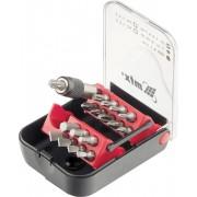 Комплект битове, магнитен адаптер, 18 части, в пластмасова кутия