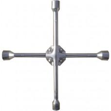 Ключ за джанти, кръстат, 17 х 19 х 21 mm, квадрат 1/2, усилен, дебелина 16 mm
