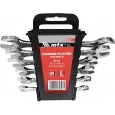 Комплект ключове гаечни, 6-17 mm, 6 бр., хромирани
