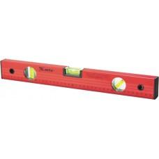 Нивелир алуминиев, 600 mm, 3 либели, червен, с линийка