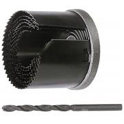 Комплект боркорони за дърво, D 60-67-74-81-95 mm, дълбочина на врязване 1_1/2