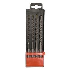 Комплект свредла за бетон, 5-6-8-10х160 mm, 4 бр., SDS PLUS, пластмасова кутия
