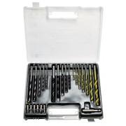 Комплект свредла за бетон 4-5-6-8-10mm, метал 2-3-4-5-6-8-10mm, дърво 4-5-6-8-10mm, дюбели, 300ч.