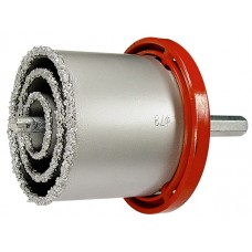 Комплект боркорони за керамични плочки, D 33-53-67-73 mm, 6-стенна опашка