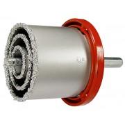 Комплект боркорони за керамични плочки, D 33-53-67-73-83 mm, 6-стенна опашка, в пластмасова кутия
