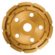 Диамантен диск за шлайфане, чашкообразен, 125 mm, двуреден