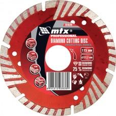 Диамантен диск за сухо рязане, сегментиран, със защитни сектори, 115 х 22,2 mm