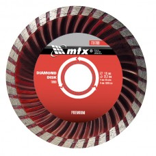 Диамантен диск за сухо рязане Turbo, 125 х 22,2 mm PREMIUM