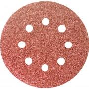 Шкурка кръгла за шлифовъчна машина, самозалепваща, перфорирана, P  80, 125 mm, 5 бр.