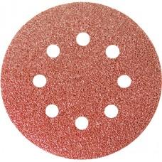 Шкурка кръгла за шлифовъчна машина, самозалепваща, перфорирана, P 100, 125 mm, 5 бр.