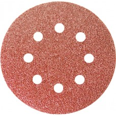 Шкурка кръгла за шлифовъчна машина, самозалепваща, перфорирана, P 180, 125 mm, 5 бр.