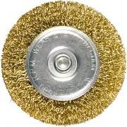 Четка за бормашина,  40 mm, плоска с опашка, вълнообразна стоманена тел