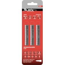 Ножове за прободен трион за дърво, 3 бр., T101B, 75 х 2,5 mm