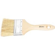 Четка плоска Евро 1 1/2, естествен косъм, дървена дръжка
