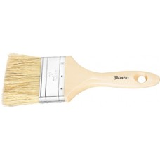 Четка плоска Евро 4, естествен косъм, дървена дръжка