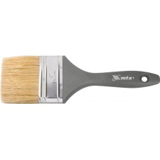 Четка плоска Евро 1 1/2, естествен косъм, пластмасова дръжка