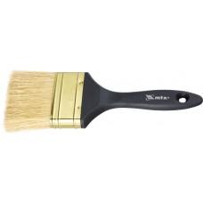 Четка плоска Профи 3, естествен косъм, пластмасова дръжка