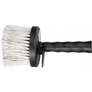 Четка, кръгла, изкуствен косъм, пластмасов корпус, пластмасова дръжка