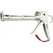 """Пистолет за силикон, 310 ml, """"полуотворен"""" тип, хромиран, назъбен бутален прът 7 mm"""