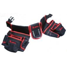 Чанта-колан за инструменти, двойна, 20 джоба, държател за чук