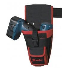Кобур за акумулаторна бормашина, за колан, с джобове за приставки