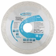 Диамантен диск за мокро рязане, непрекъснат ръб, 115 х 22,2 mm GROSS